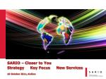 sario closer to you strategy key focus new services 18 october 2011 ko ice