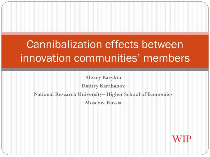 Cannibalization effects between innovation communities members