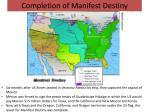 completion of manifest destiny
