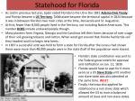 statehood for florida