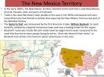 the new mexico territory
