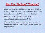 has tax reform worked