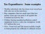 tax expenditures some examples