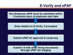 e verify and epaf