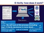 e verify how does it work