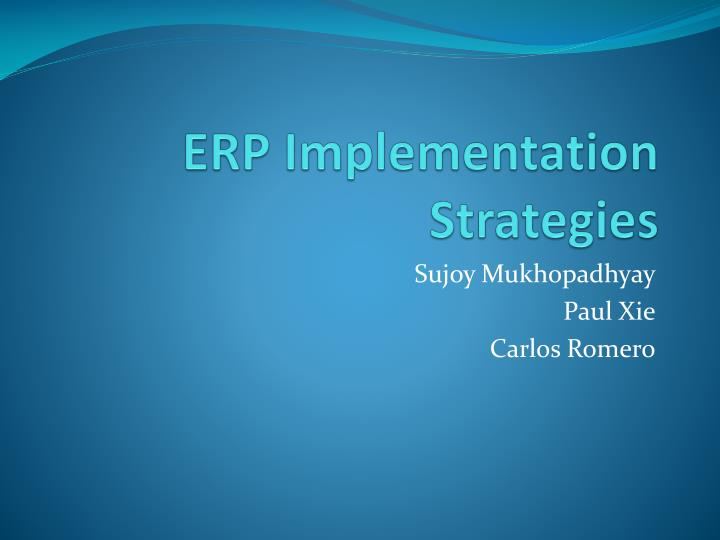 erp implementation strategies n.