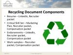 recycling document components