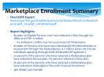 marketplace enrollment summary