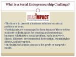 what is a social entrepreneurship challenge