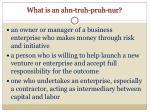what is an ahn truh pruh nur