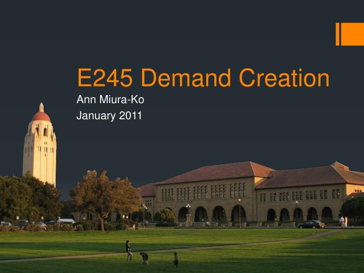 e245 demand creation n.