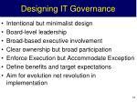 designing it governance