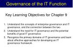 governance of the it function