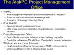 the atekpc project management office