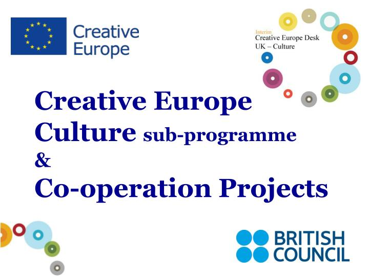 creative europe culture sub programme co operation projects n.