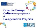 creative europe culture sub programme co operation projects