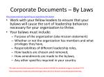 corporate documents by laws