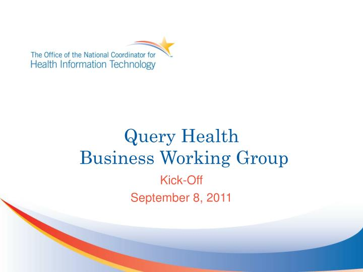 query health business working group n.