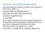 germany dual study programmes