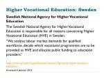 higher vocational education sweden