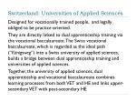 switzerland universities of applied sciences