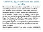 university higher education and social mobility
