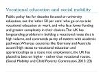 vocational education and social mobility