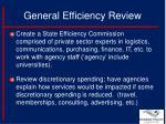general efficiency review