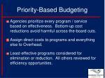 priority based budgeting