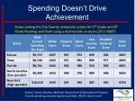 spending doesn t drive achievement