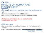 impacts on human and environment