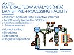 material flow analysis mfa danish pre processing facility