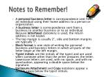 notes to remember1