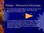 wedge mechanical advantage