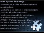 open systems peter senge