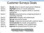 customer surveys goals