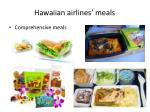 hawaiian airlines meals