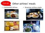 other airlines meals