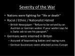 severity of the war1