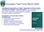 innovation task force march 2009