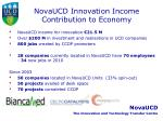 novaucd innovation income contribution to economy