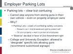 employer parking lots