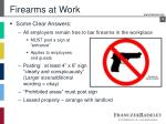 firearms at work