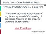 illinois law other prohibited areas