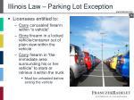 illinois law parking lot exception
