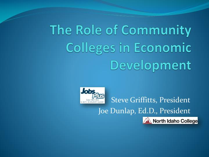 the role of community colleges in economic development n.