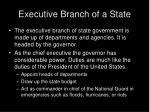 executive branch of a state