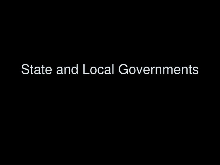 state and local governments n.