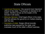 state officials