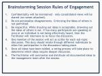brainstorming session rules of engagement
